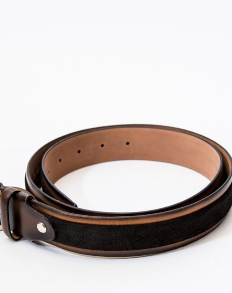 Leather Embossed Belt | Suede