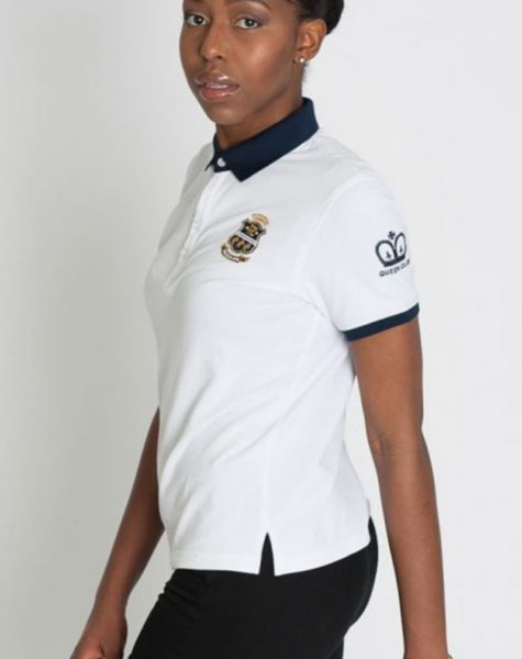 PZ Polo White-Blue Collar