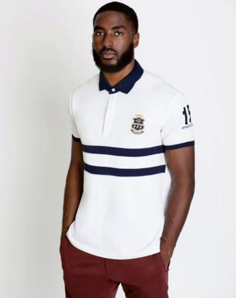 PZ Polo-White/Blue Stripes
