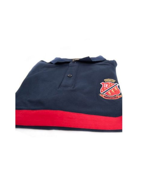 PZ Polo-Navy Blue/Red Stripes