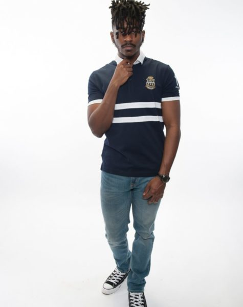 PZ Polo-Navy Blue/White Stripes