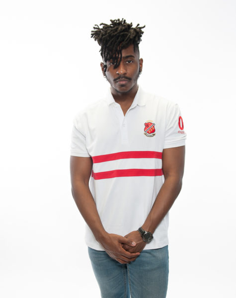 PZ Polo-White/Red Stripes