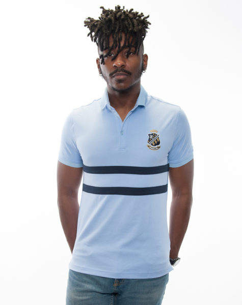 PZ Polo-Carolina Blue/Blue Stripes