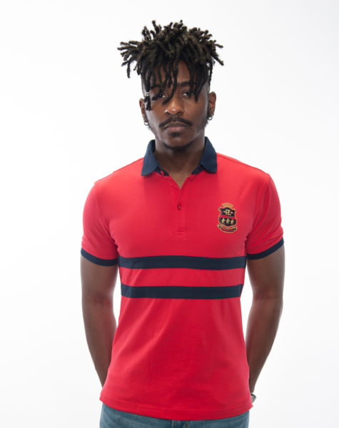 PZ Polo-Red/Blue Stripes