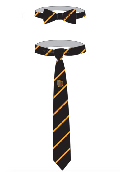 Navy Necktie With Gold Stripes | OBBA